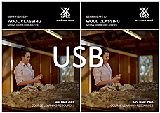 AHC41316 Certificate IV Wool Classing: USB of Volume 1 and 2