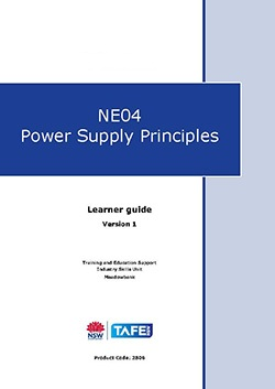 NE04 Power supply principles