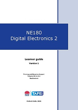 NE180 Digital Electronics 2