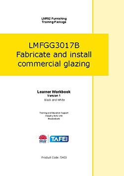 LMFGG3017B Fabricate and install commercial glazing (Black & White)