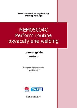 PERFORM ROUTINE OXYACETYLENE WELDING